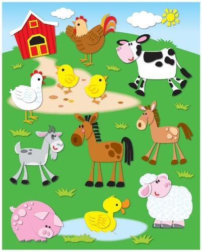 Carson Dellosa Farm Shape Stickers -