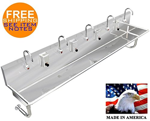 (HAND SINK STAINLESS STL 5 USERS 100