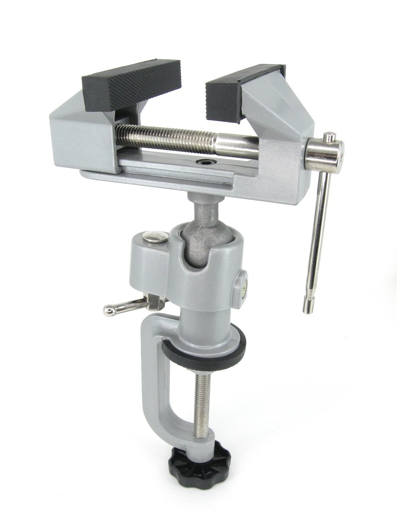 Schraubstock 80 mm 360°drehbar Tischschraubstock Bankschraubstock