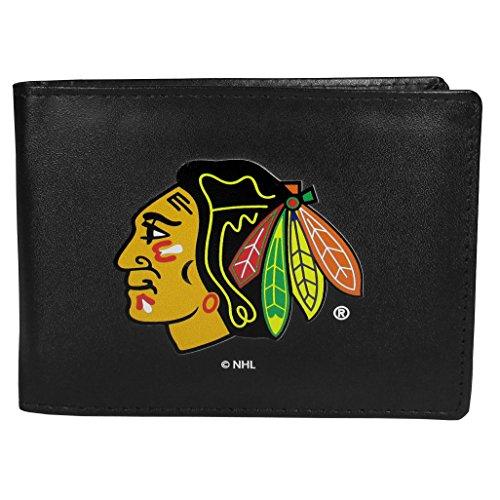 Siskiyou NHL Chicago Blackhawks Unisex Sportsbi-Fold Wallet Large Logo, Black, One Size