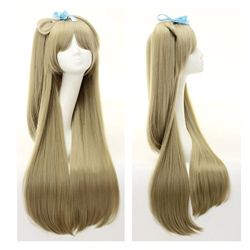 SIMUSTY Love Live Orange Anime Cosplay Wigs Full Wigs for Women ]()