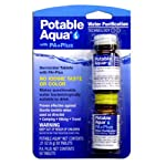 Potable Aqua Water Purification Tablets with PA Plus neutralizing tablets - Portable Drinking Water Treatment for Camping, Emergency Preparedness, Hurricanes, Storms, Survival, and Travel (50 Tablets) 4 Potable Aqua - the most trusted name in water purification products, Potable Aqua is used by militaries and relief organizations around the world. Potable Aqua Drinking Water Germicidal Tablets are intended for emergency disinfection of drinking water Potable Aqua Plus are neutralizing tablets for use after water has been treated with Potable Aqua. P. A. Plus neutralizes the iodine after-taste and color in the water 2 Potable Aqua tablets are required to treat 1 quart (1 liter) of water. 2 PA+ tablets will neutralize the residual iodine remaining after treatment. PA Plus tablets disintegrate rapidly and remove the iodine taste and odor within 5 minutes