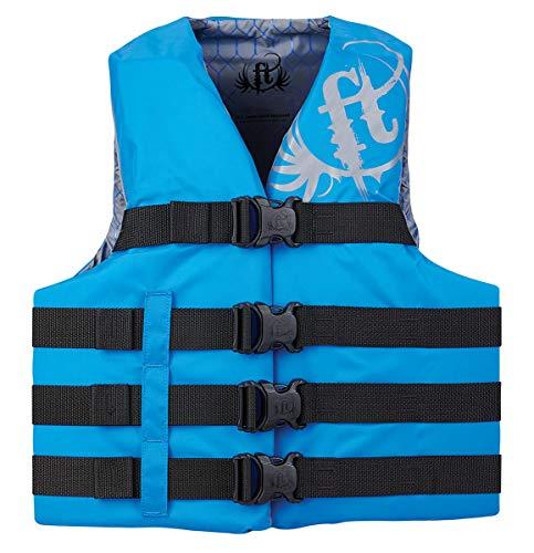 KENT Sporting Goods Co 112200-500-080-19 Full Throttle Vest 4-Belt Nylon Blue 2XL/4XL