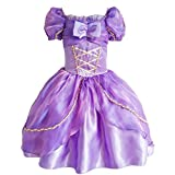 JiaDuo New Princess Party Costume Girl Halloween Dress Up 110,3T,Rapunzel Purple