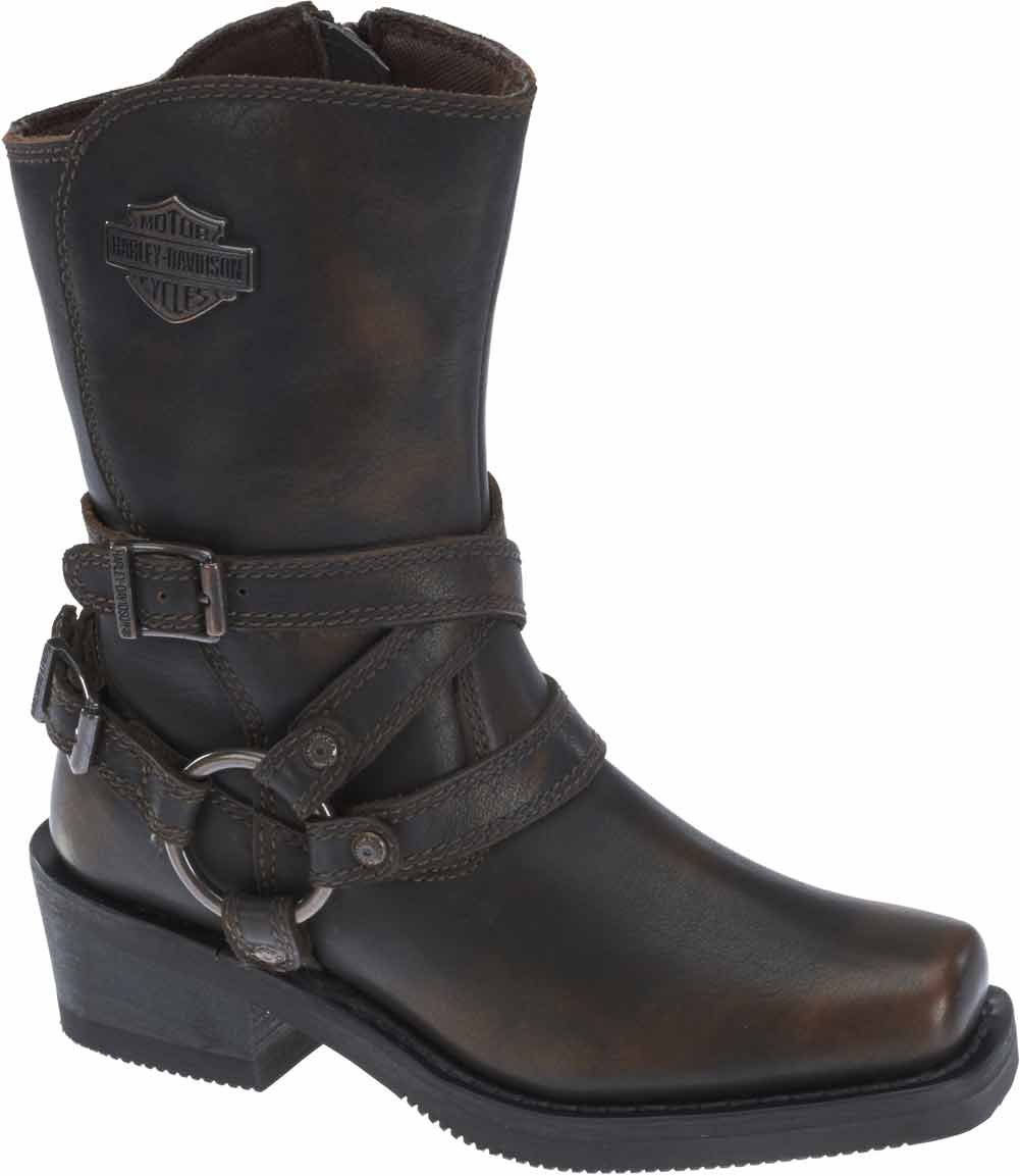 Harley-Davidson Women's Ingleside 8.5-Inch Motorcycle Boots D87092 (Brown, 6.5)