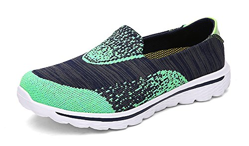 Price comparison product image Ausom Men's Women's Mesh Athletic Running Sneaker Slip-On Fashion Lovers Walking Shoes