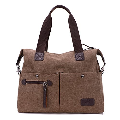 Handbag Bag Color Canvas Women Shoulder Girl's Bag Striped Messenger Hobos Nameblue brown 1111 Multi Tote cxfvwqpB88