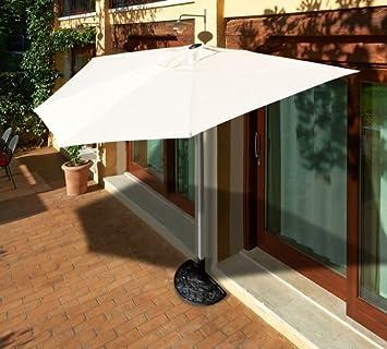 Papillon - Modelo Tarragona - Sombrilla de pared, de aluminio, con base: Amazon.es: Jardín
