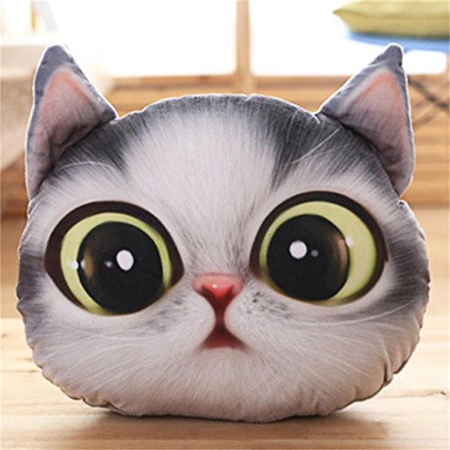 Cute Cartoon Cushion,Hongxin Creative Simulation 3D Owl Cushions Cat Pillow For Home Decor Office Lunch Break (A) (Halloween Movies For 8-12 Year Olds)