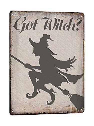 Halloween Witch Sign - WITCH halloween METAL SIGN haunted house Wall decor vintage style wall decor plaque 681