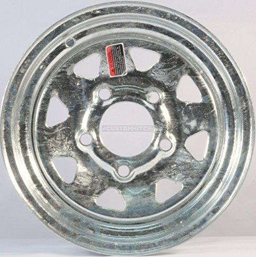 Martin Wheel 5-Hole Galvanized Steel Trailer Wheel (12x4/5x4.5)