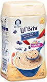 Gerber Lil Bits Whole Wheat Apple Blueberry Baby Cereal, 8 Ounce (Pack of 6)