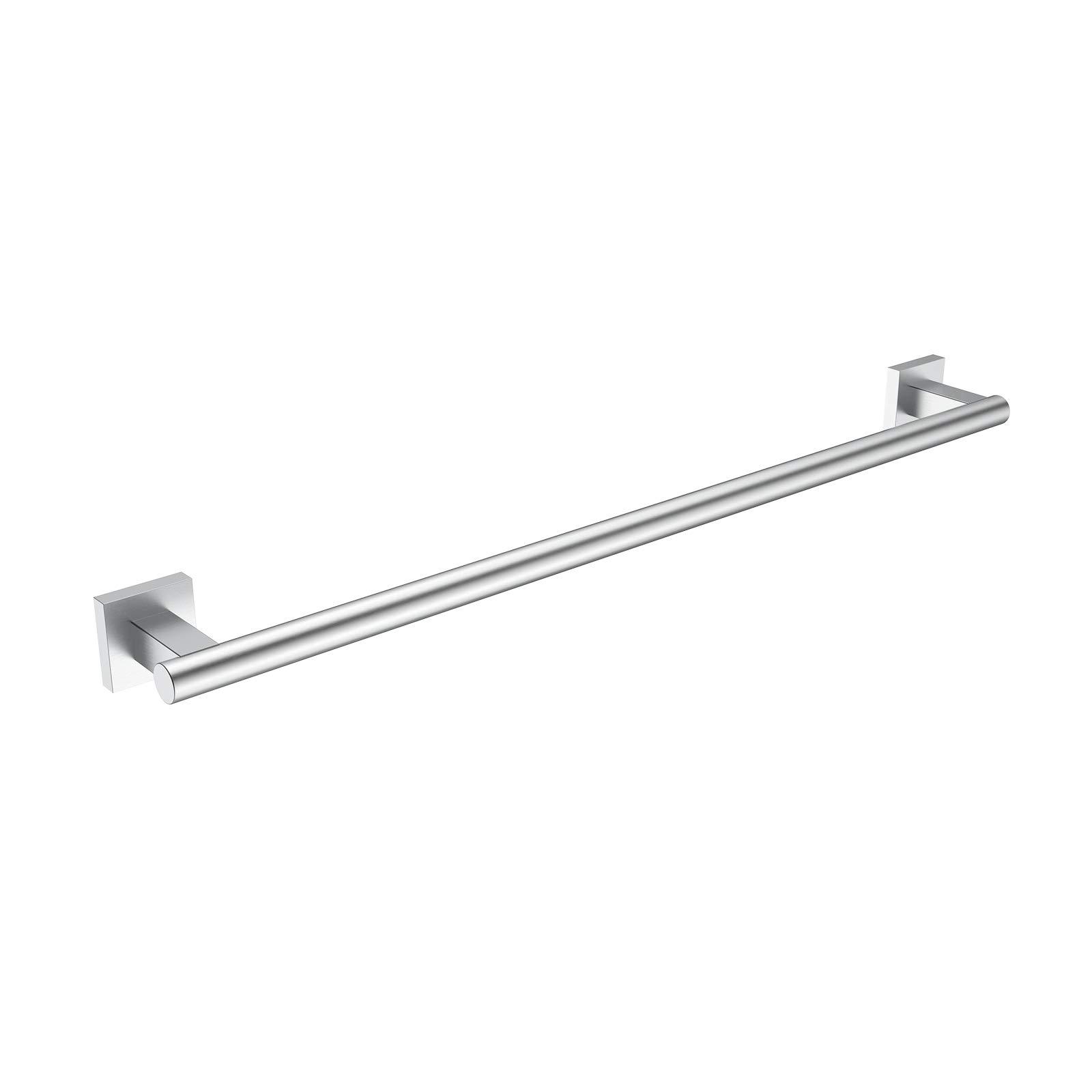HOMGIF 24-Inch Towel Bar Rack SUS 304 Stainless Steel Brushed Finish Wall Mounted Bath Shelves Hanger (Single Bar)