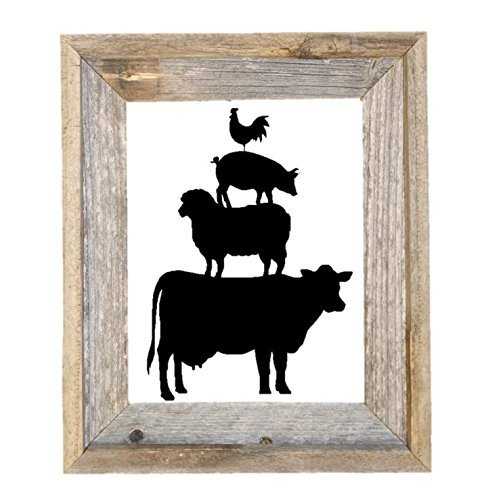 Farmhouse Stacked Animals Black Vinyl Wall ()