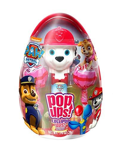 Paw Patrol Marshall Pop Ups Lollipop Holder Easter Egg with Chupa Chups Lollipops, 0.70 oz]()