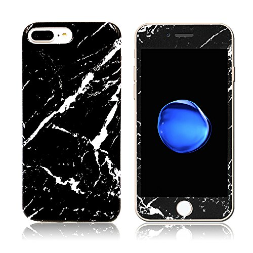 iphone 6 plus/6S Plus Case With Screen Protector, AICOO YCL 2-in-1 Marble...