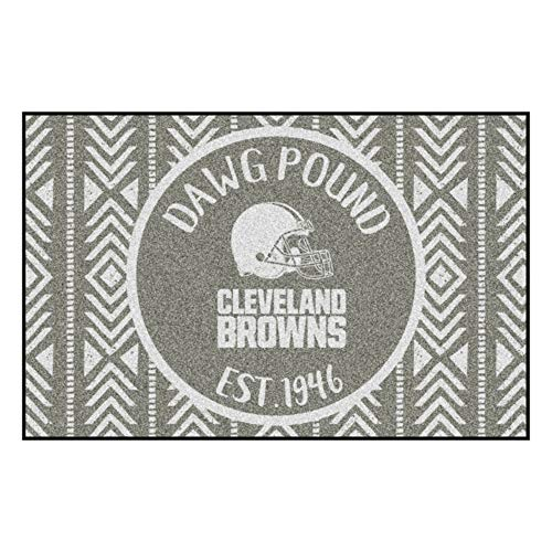 FANMATS NFL Cleveland Browns Southern StyleStarter Mat, Gray, 19