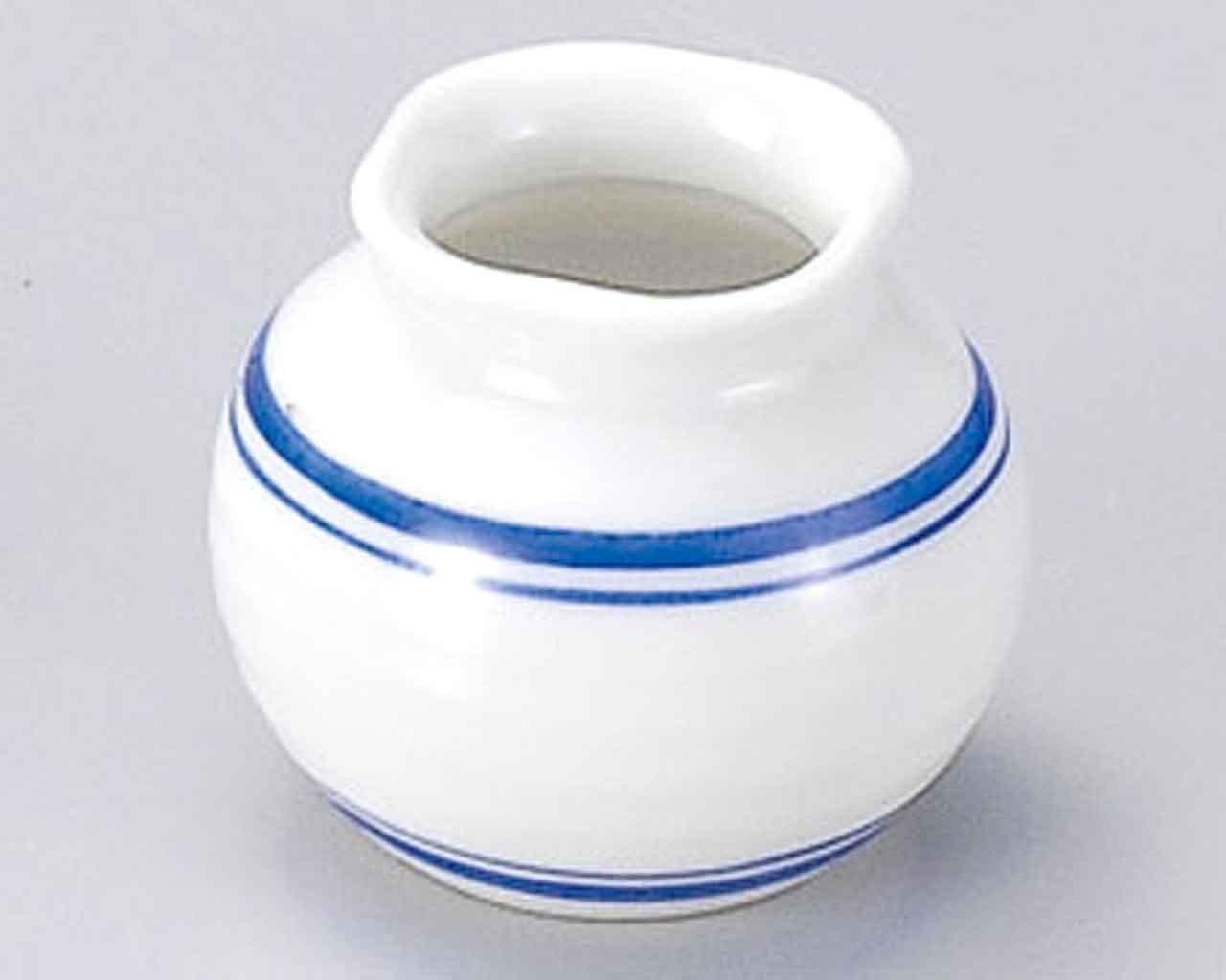 Gosu Blue lines 2.2inch Set of 5 Toothpick holders White porcelain Made in Japan