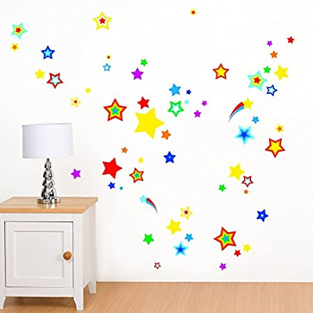 Rubybloom Designs Bright Stars Multicoloured Space - Childrens ...