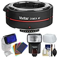 Vivitar Series 1 2x 4 Elements Teleconverter with Flash + Diffuser + Flash Filters + Kit for Nikon Digital SLR Cameras