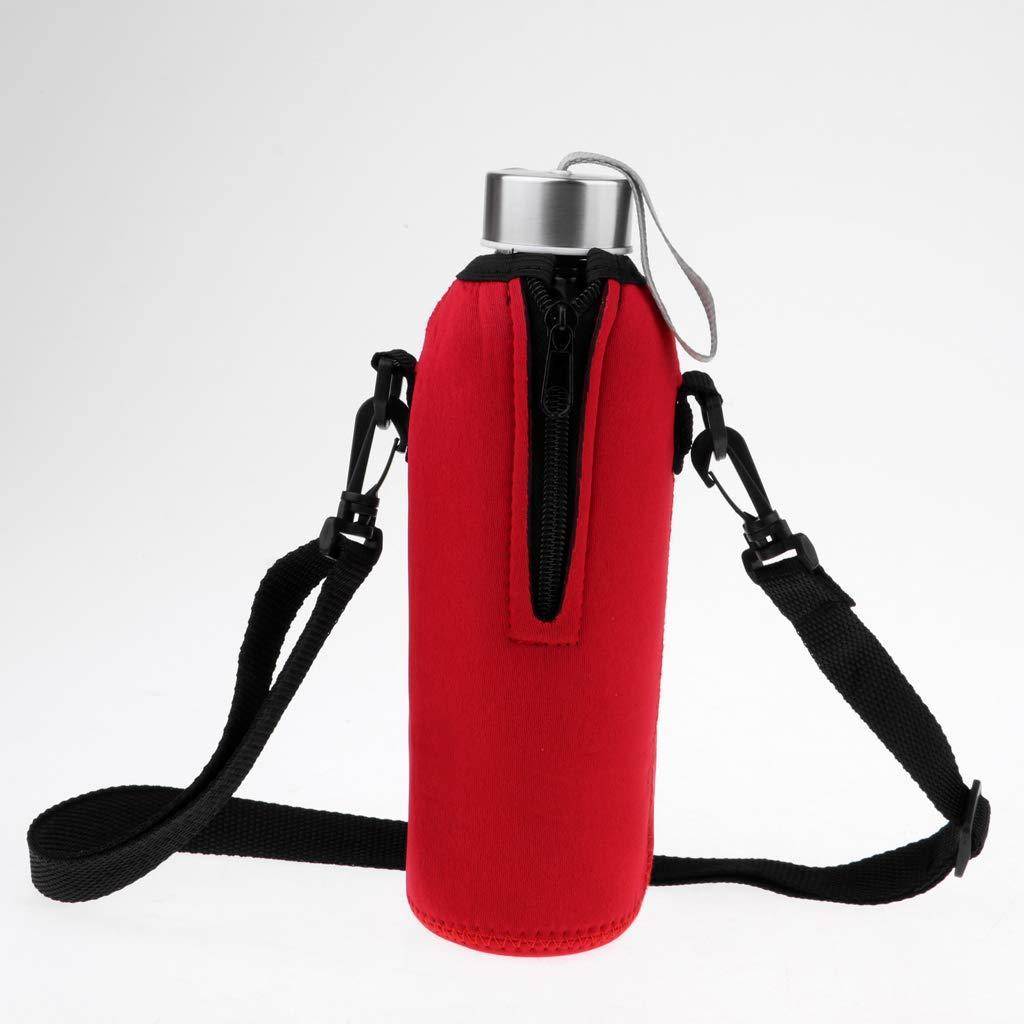 F Fityle 1 Pedazo Sostenedor Funda de Botella de Agua de 750 ml Neopreno Colgante Unisexo