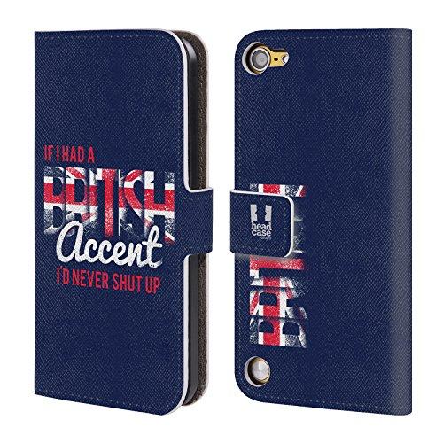 Head Case Designs Accento Inglese Il Meglio Di Londra Cover a portafoglio in pelle per iPod Touch 5th Gen / 6th Gen
