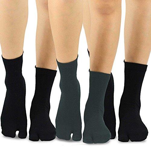 Teeheesocks TeeHee Flip Flop Big Toe Cotton Socks 3-Pairs Pack (Cap Toe Cotton Cap)