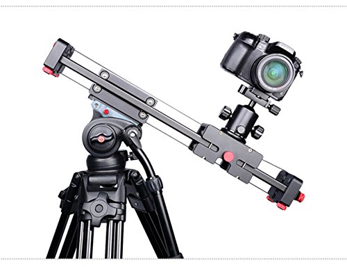 Camera Slider,DSLR Camera Track Dolly slider Video Stablilzer Rail with Time Lapse Tracking and 120-degree Panoramic Video Shooting, Perfect Photograph Movie Film Video Making