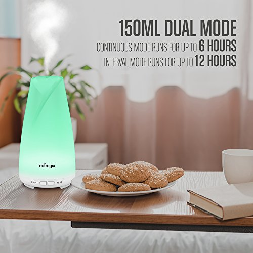 Essential Oil Diffuser 150ml by Natrogix Totem - Cool Mist Aroma Humidifier for Aromatherapy 7 Colors with Changing Colored LED Lights, Waterless Auto Shut-off and Adjustable Mist Mode w/ Free E-Book by Natrogix (Image #3)