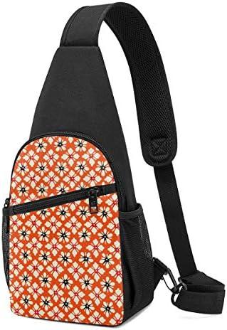 ボディ肩掛け 斜め掛け 幾何の図案 花 ショルダーバッグ ワンショルダーバッグ メンズ 軽量 大容量 多機能レジャーバックパック
