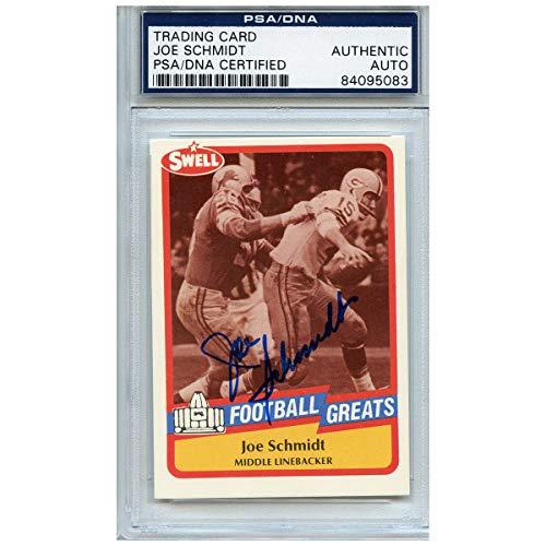Joe Schmidt Detroit Lions - Joe Schmidt Autographed Signed Football Trading Card Detroit Lions PSA/DNA #84095083
