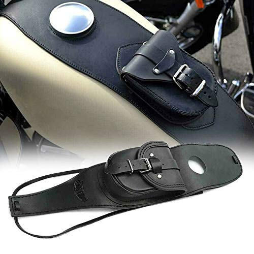 Luixxuer Motorcycle Tank Bib with Pouch, Gas Fuel Tank Cover Panel Pad, Tank Bag for Harley Sportster