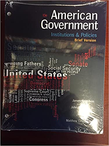 Amazon american government institutions and policies brief american government institutions and policies brief version loose leaf version 13th edition fandeluxe Image collections