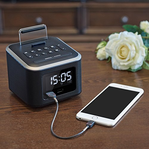 Alarm Clock Radio Wireless Bluetooth Speaker Digital Alarm