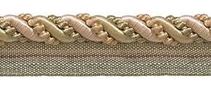 """9Patio valor LT Peach, tamaño grande, verde oliva, marfil 7/16""""Imperial II Cable de labio estilo # 0716i2color: Peach de las praderas–3853(27m/8metros)"""