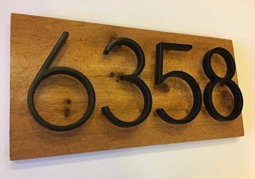 1908a3a1737 Amazon.com  Rustic Wood Address Plaque - Modern