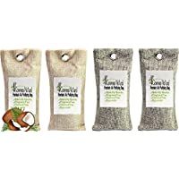 Premium Activated Carbon Air Purifying Bag By Careness Natural,Coconut Shell Charcoal Odor Absorbent Shoe Deodorizer and Odor Eliminator More Effective Than Bamboo Charcoal Deodorants. (4pc, 2pairs)