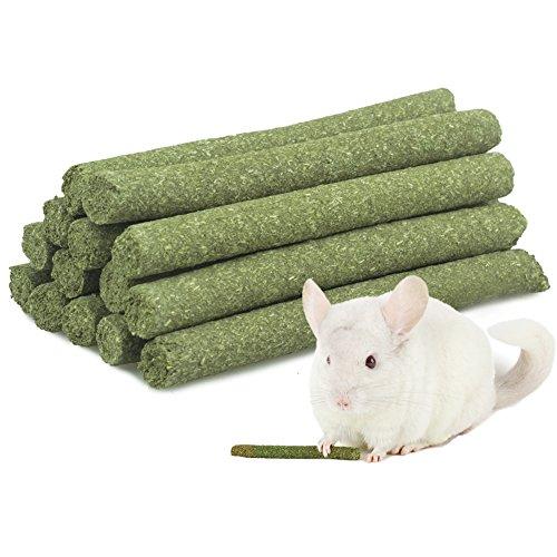 ULIGOTA 7oz (20Sticks) Alfalfa Grass Molar Rod for Rabbit Chincilla Guinea Pig and Hamster Chew (Alfalfa Cubes)