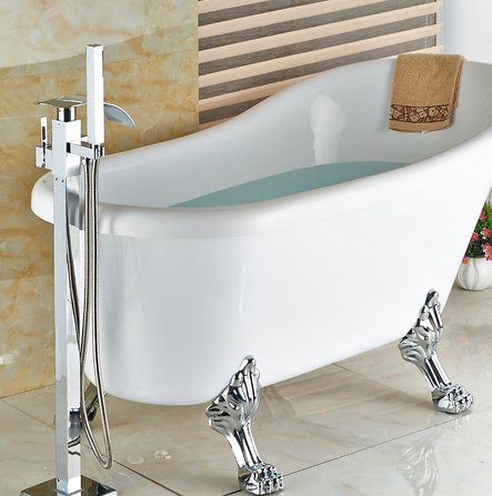 GOWE luxury Free stand Floor Mounted Clawfoot Bath Tub Faucets Bath Tub Mixer Faucet by Gowe (Image #2)
