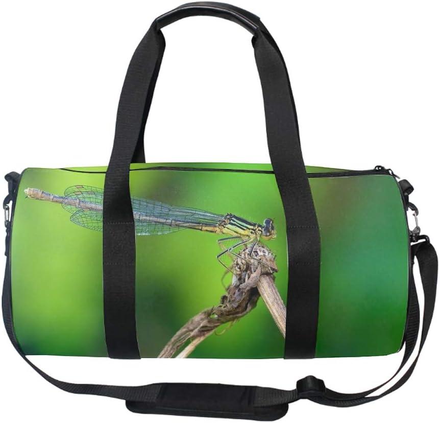 Dragonfly Gym Duffle Bag Drum tote Fitness Shoulder Handbag Messenger Bags