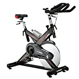 Xspec Pro Stationary Upright Exercise Cycling Bike, Heart Pulse Sensors, Adjustable Friction Resistance, 3-Piece Crank, Multi-Function Monitor