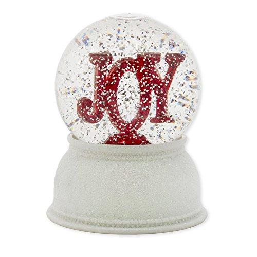 Roman Christmas Joy Marquee Swirldome Glitterdome Snowglobe by Roman
