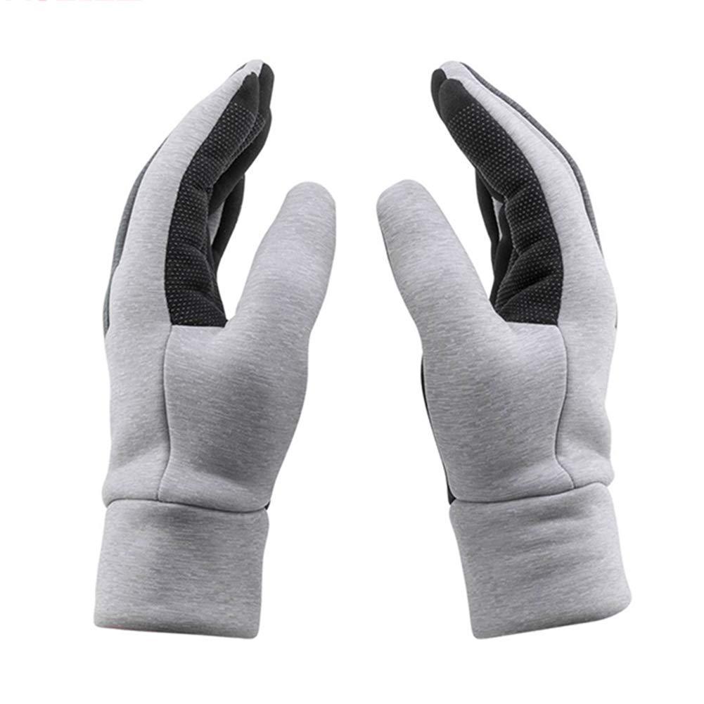 手袋 サイクリング用手袋 ウォーム手袋 スキーグローブ スポーツ手袋 防風手袋 フィットネス用手袋 ウィンターシックフルフィンガー ZHANGAIZHEN (色 : Gray, サイズ さいず : S s) S s Gray B07KNNXT3G