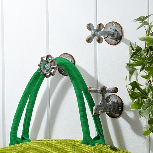 Amazoncom Vintage Garden Faucet Iron Wall Hooks Set of 3 Home