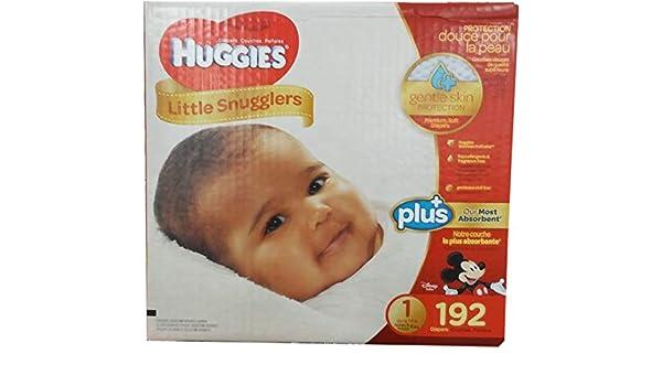 Huggies Little Snugglers Plus Taille 1, 192 Lot: Amazon.es: Bebé