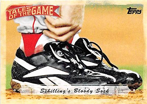 Bloody Sock Curt Schilling baseball card (2004 Boston Red Sox) 2010 Topps #TOG21 ()