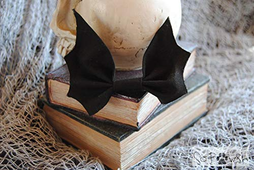 Black Bat Bow Tie Pet Collar Accessory