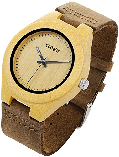 Eco Wood Watch - Lightweight Wrist Wooden Watch for Men with Stylish (Stylish Black Wooden Box)