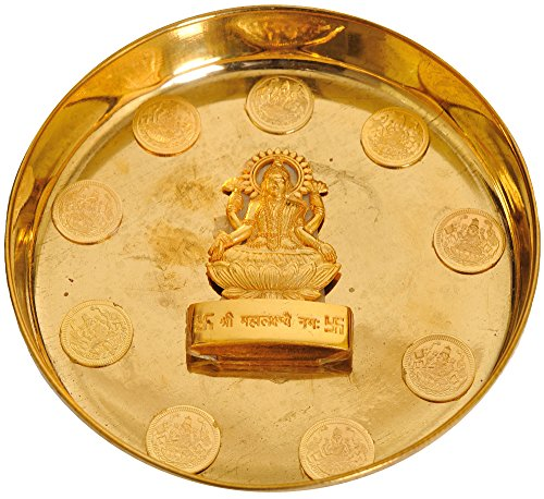 Exotic India Goddess Lakshmi Worship Plate