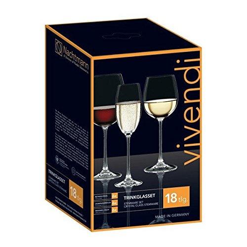 Spiegelau & Nachtmann, 18-teiliges Gläser-Set, Rotwein/Weißwein/Champagner, Kristallglas, 242/ 216/ 236 ml, Vivendi, 0088260-0